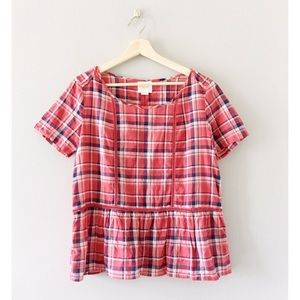 Maeve by Anthropology plaid top